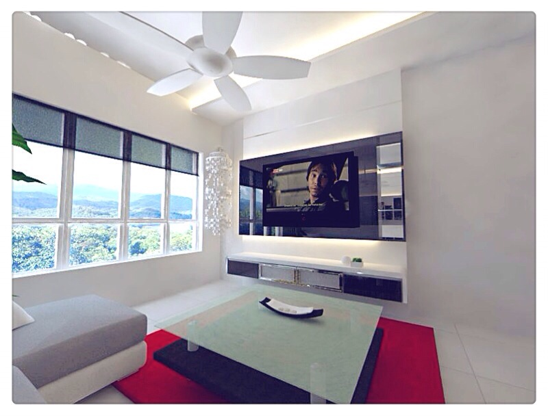 Design Concept Yishun 5 Room Hdb Living Room Tv Feature